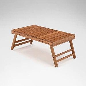Table de pique-nique pliante en bois massif, utilisée pour la cuisine en intérieur et en extérieur, dîner, traiteur, buffet et jardin, 67 x 39,5 x 28 cm