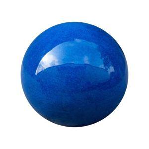 Teramico Boule décorative de jardin émaillée – Bleu, vert, anthracite, turquoise, aqua – Très haute qualité résistant au gel et aux intempéries en grès (36 cm, bleu)