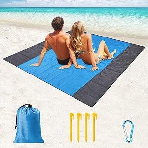 Toulifly TapisdePlage,210x200cm Tapis Pique Niques,Couverture Plage,Sandproof Beach Blanket,Picnic Blanket,Tapis de Plage Pliable XXL,Natte de Plage,pour Pique-Nique,Camping, Plage,Voyage