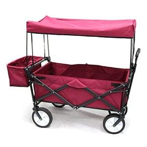 TZCC Chariot de Pliage extérieur/supermarché Chariot à usiner/Chariot à Outils à Main/Chariot à Bagages/Camping Trailer extérieur/Portable Childrens Four-Wheeler