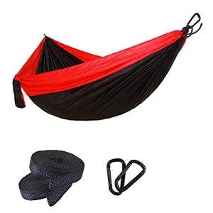 Unknows Hamac Simple Double Camping léger hamac Portable pour randonnée en Plein air Voyage Sac à Dos – Tapis de Camping en Nylon hamac balançoire