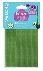 VELCRO Brand One Wrap Liens de démarrage pour conteneur de jardin ou plantes d'intérieur, plastique recyclé vert, 15,2 x 1,27 cm