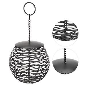 Voluxe Mangeoire à oiseaux d'extérieur en forme de boule en métal pour femme à suspendre à la maison