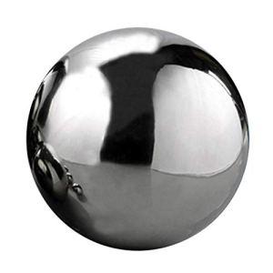 YIWOYI Boule de visualisation en acier inoxydable 304 – Boule en acier brillant – Décoration de jardin – 300 mm