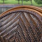 YX Rocking chair Balcon Petite Chaise De Rotin Imitation Bamboo Chaise Chaise À Haut Dossier Chaise de Salon Bureau Pe Rattan Craft En Aluminium Cadre Ne Rouille pas