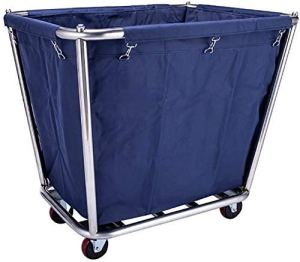 ZGQA-GQA Multifonction Diables Portable, Chariot de service Servantes Linen voiture avec roue universelle, Chariot amovible roulant Chariot for Hôtel/Hall, Capacité 100 kg, 91 × 65 × 80cm, bleu