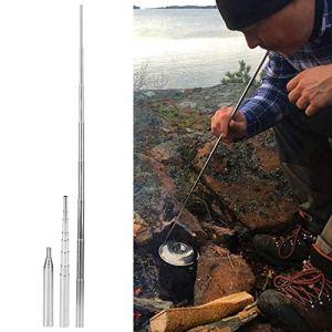 Zwinner Souffleur d'air d'incendie, Tube de soufflage Tube de feu de soufflage Tube de feu extérieur pour Pique-Nique, Camping, randonnée