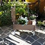 ZYFWBDZ Jardinière de Chien, jardinière succulente de Dessin animé en Forme d'animal, décor de Pot de Fleur en Bois Artisanat de décor de jardinière succulente,K