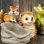 ZYFWBDZ Pot de Fleurs de décoration de Maison de Forme Animale, Mini Ornement de Bureau de planteur Succulent en résine, décoration d'ornements de Jardin,Frog