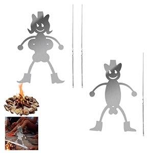 1 lot de 2 grilles à rôtir en acier inoxydable avec design de personnage léger pour griller et rôtir Parfait pour barbecue