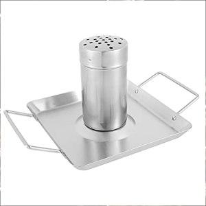1 support pour canette de bière et poulet en acier inoxydable – Support de barbecue amovible de qualité supérieure – Idéal pour barbecue