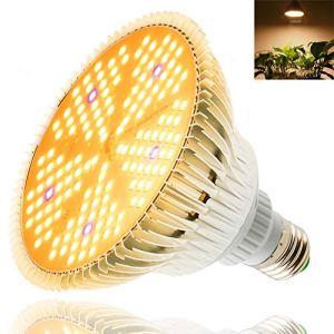 100W Lumière végétale,150 LED Lampe de Plante à Spectre Complet,E27 Plant cultivez une lampe ampoule pour Plantes Intérieur Germination Légumes Fleurs Hydroponique Serre Tente de Culture Succulentes