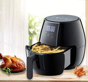 5 litres d'air friteuse avec affichage numérique cuisson en santé Air Fryer sans huile, panneau à écran tactile 6-in-1 Air FRA FAT Air FRYER black