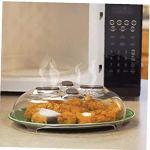 Aimant Alimentaire Splatter Garde Anti-Hover Micro-Ondes Couverture avec pulvérisation Cheminées à Vapeur Splatter magnétique Couvercle résistant à la Chaleur
