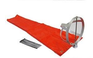 Airport Windsock Corporation Manche à air orange 20,3 x 91,4 cm et cadre en aluminium 20,3 cm