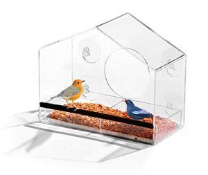 AshmanOnline Accueil en Forme de fenêtre mangeoire pour Oiseaux