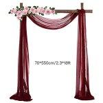 ASSR Tissu drapé pour arche de mariage, 4,7 m, en mousseline de soie, drapé pour arche de mariage, rideau de fenêtre, écharpe pour la maison, fête d'anniversaire, blanc