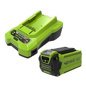 Batterie GSK40B2 40V 2Ah Greenworks et chargeur universel (Li-Ion 40V 2Ah puissance 90W 2A adaptée à tous les outils et batteries de la série 40V de Greenworks)