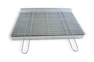 BitWa Bac à cendres + grille de cuisson 4 mm + grille à charbon 80 x 40 cm