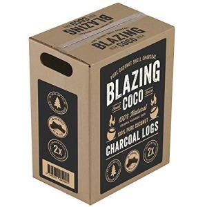 Blazing Coco Premium Lot de 2 grilles de charbon de coco 20 livres