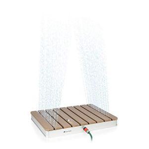 Blumfeldt Sumatra Breeze – Douche de sauna, Pour le jardin, Positionnement et connexion faciles, Commande pratique au pied, Hauteur de fontaine jusqu'à 4 mètres, Surface résistante, Avec raccord, Bois