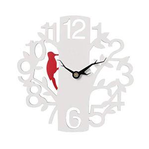 BOPP Horloge murale d'extérieur résistante aux intempéries, 40,6 cm pour jardin, horloge extérieure blanche pour jardin, timing précis et créativité, convient pour décoration murale extérieure