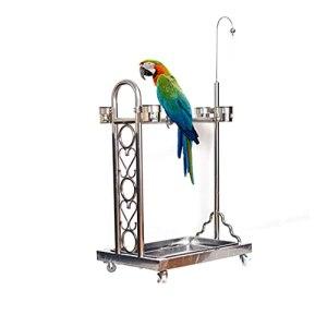 Cage Oiseaux Porte-oiseaux télescopique d'oiseau d'oiseau d'oiseau d'acier inoxydable convivial d'oiseau télescopique adapté aux oiseaux de grande et moyenne taille macaw canadi oiseau Volière