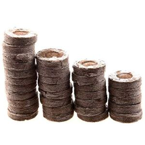 CareMont 200 PièCes SéRies Professionnel Granules de Tourbe Plante DéMarrage Bloc de Bouchons de Semis Jiffy PéPinièRe de Jardin Environnemental