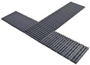 Chemin de jardin enroulable | env. 2 m | Charge maximale : 200 kg | Extensible à l'infini | Installation rapide sans outils