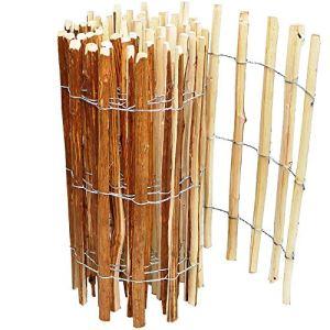 Clôture en lattes de bois de 60 cm de hauteur, bordure de bassin, clôture de 5 m de long, clôture de jardin, distance entre les lattes de 3 à 4 cm, lattis résistant aux intempéries