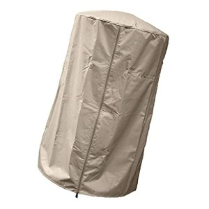 Couverture de chauffage de terrasse, Oxford UV UV imperméable de meubles de meubles à fermeture à glissière Beige M ombrage efficace