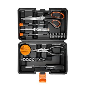 Dan&Dre Boîte à Outils, Ensemble d'outils ménagers pour la Maison Ensemble d'outils de quincaillerie de 118 pièces avec Ensembles de Combinaison de matériel Étui de Rangement pour bricoleurs