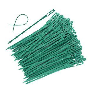 Dcolor 100 Pieces Liens Réglables De Torsion D'Usine De Jardin, Attaches De Torsion En Plastique Flexible De 6,7 Pouces Multi Usage Pour La Vigne Sécurisé (Vert)