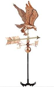 Dengbang Aigle girouette, Toit en cuivre Violet girouette Cour extérieure girouette Outils de Mesure Professionnels girouette, cuivre