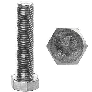 FASTON Lot de 10 vis à tête hexagonale M8 x 60 – En acier inoxydable A2 V2A – DIN 933