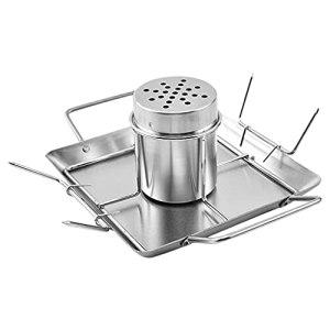 Fenteer Accessoire de Gril pour de Poulet en canette de bière – Faites Facilement Un Excellent Barbecue de dégustation – Ensemble de Support de boîte de