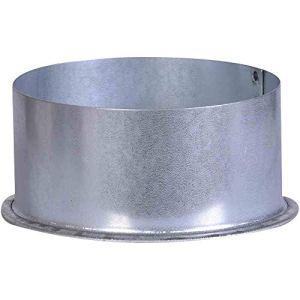 FIREFIX Bouchon de Tuyau A100/K FAL-Diamètre : 100 mm-pour tuyaux de poêle de 0,6 mm d'épaisseur, argenté