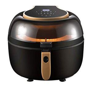 Friteuse d'air avec affichage numérique Mini four, cuisson, friture Air Fryer et torréfaction Idéal pour les copeaux, poulet et friteuse d'air Veg
