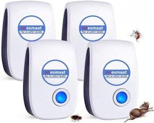 Général MESMAAT Nouveau Répulsifs à ultrasons 2021 pour Souris, Rats, Rongeurs, Moustique, Cafard, Araignée, Mouches – Anti-Rongeurs Insectes Nuisibles – Anti-moustiques