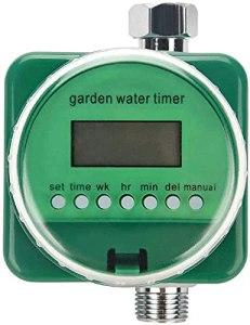 GXT Type de Tuyau de Jardin Capteur de Pluie Automatique Capteur de Pluie Timisseur Timètre de Jardin Électronique Contrôleur d'irrigation avec écran LCD pour Plante de Jardinage, Balcon Extérieur
