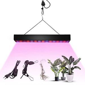 Homradise Lampe LED pour plantes 200 W et lumière de croissance à spectre complet réglable pour plantes d'intérieur, semis, reproduction, légumes et fleurs, poids léger et petite taille…