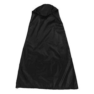Housse de cheminée, housse de poêle d'extérieur facile à utiliser en tissu Oxford 210D, conception pliable et imperméable pour protéger le poêle(Black painted silver, 122 * 21 * 61cm)