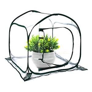 Hydrogarden Mini Serre Pop up Grow House, Couverture de Serre intérieure extérieure en PVC, Petit abri de Fleurs de Jardin Portable – 80 x 80 x 80 cm