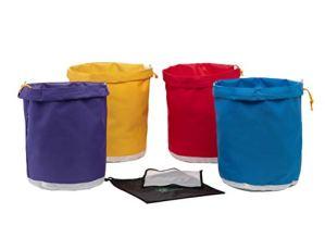 Hyindoor Bubble Bag Ice o lator Bag de 4 Sacs de 20 litres Sac d'extraction d'essence avec écran de Pression et Sac de Rangement 5 Gallon