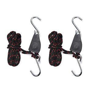 Hyindoor Sangles Cliquet 1/4 pouces Rope Ratchet Pour Lampe de Coissance 2 pièces Corde de Crochet Réglable