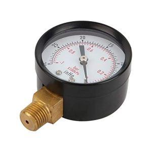 Jauge à vide universelle personnalisée, jauge à vide 2″pour compresseur d'air eau huile gaz 1/4″ NPT support inférieur MF