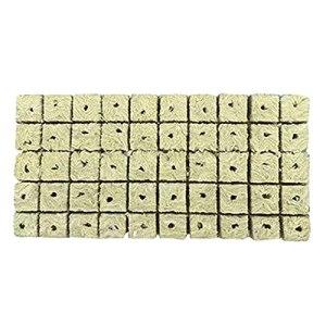 Joliy 50pcs Mini Cubes de Laine de Roche Base de compresse Pratique Blocs de médias Multifonctions Jardin hydroponique Culture Hors Sol – Jaune 25 * 25 * 40 MM