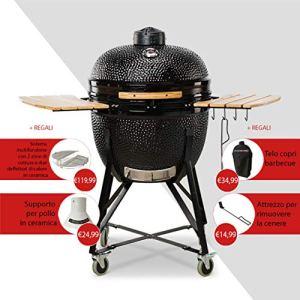Kamado BONO Grand Limited Barbecue en céramique avec système Dual Zone 25″ 59 cm