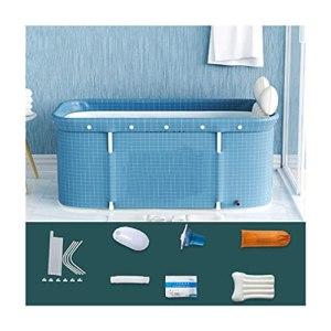 Kit de baignoire portable, baignoire de bain de trempage pliable pour adultes, baignoire debout debout, salle de bain familiale séparée baignoire spa pour bain de bain chaud bain (47.2×19.7×21.7in)