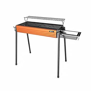 Linckry Barbecue Grill Portable Charcoal Grill Pliant BBQ Camping Grill Grand Gril de Voyage pour Camping, Pique-Nique, Barbecue en Plein air, Barbecue Barbecues au Charbon de Bois